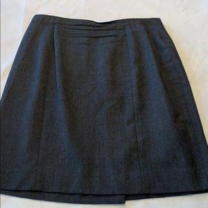 Talbots gray career suit skirt 12P